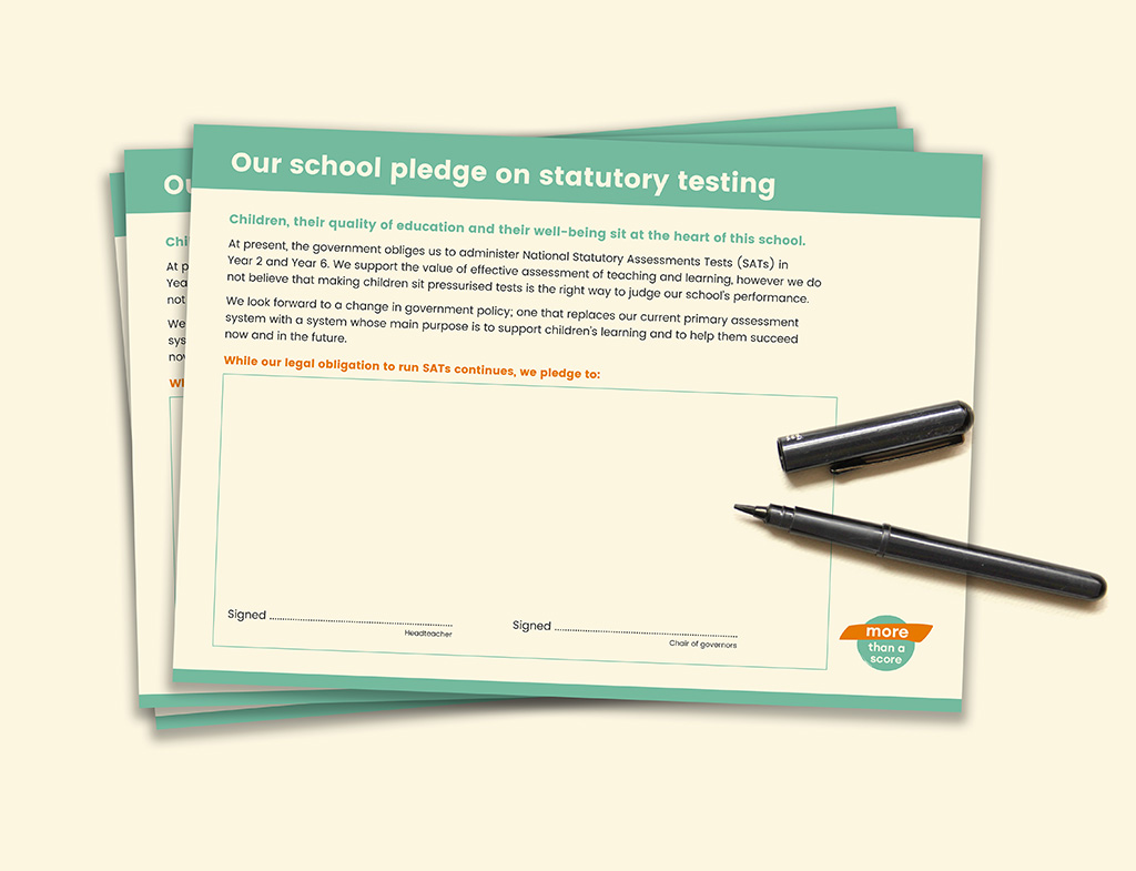 The More Than A Score Pledge: developed with heads, for schools